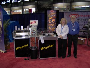 Tricia and John show off the Wrapster overwrapper