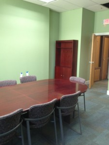 our conference table looks great in its new home