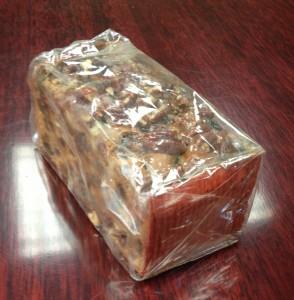 wrapped fruitcake