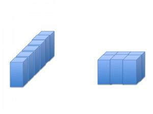 agregação por sobreembalagem em diferentes configurações